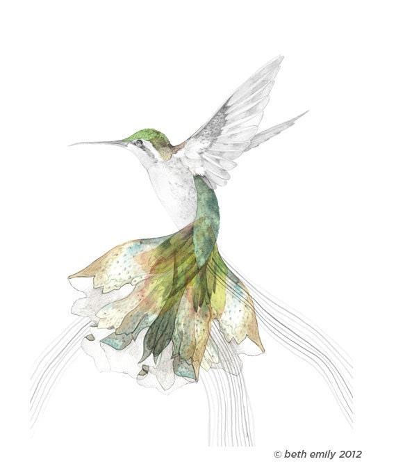 BEC'S HUMMINGBIRD - Open Edition Fine Art Print