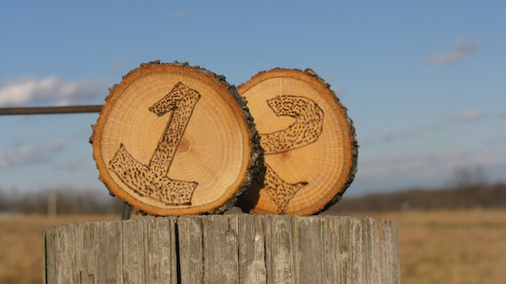 Woodland/Rustic Table Numbers