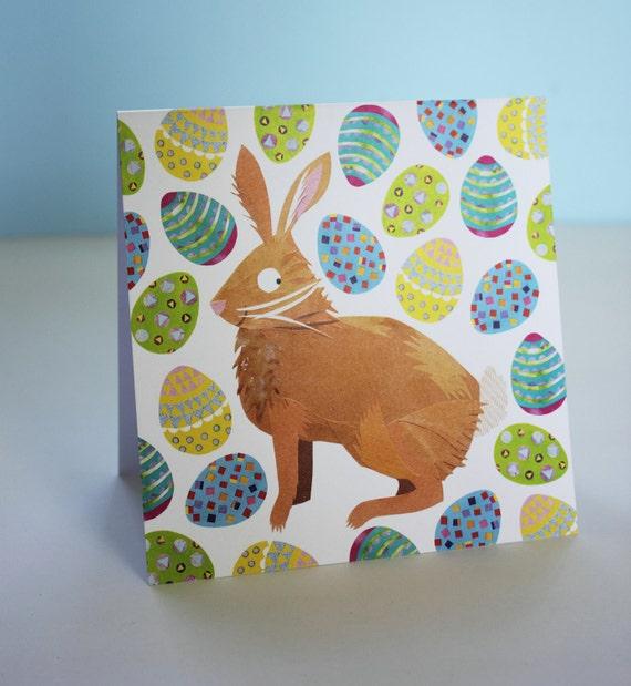 Easter Bunny's Egg Hunt Card