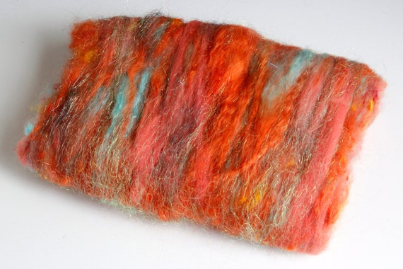 Autumn Breeze - Hogg Wild Fiber Batt - 3.8 Ounces / 108 Grams