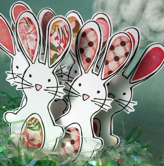 Bunny Rabbits - Pattern Patch Bunnies