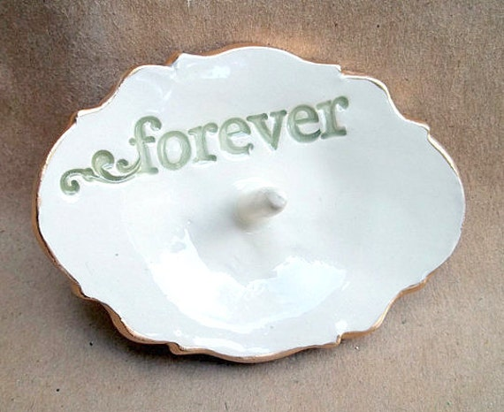 Ceramic  Forever Ring Holder Engagement Ring Holder