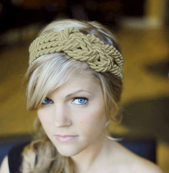 TAUPE Large sailor knot headband