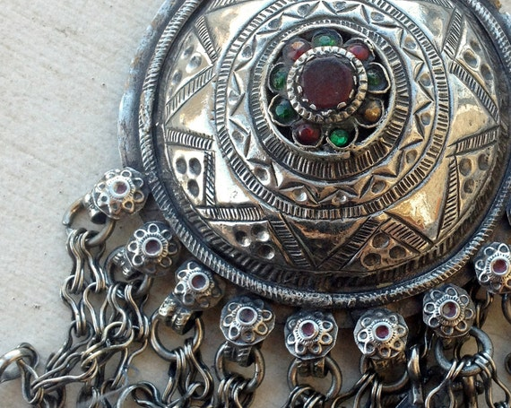 Kuchi Pendant (2): Antique Silver, Tribal Belly Dance, Assemblage Jewelry Supplies