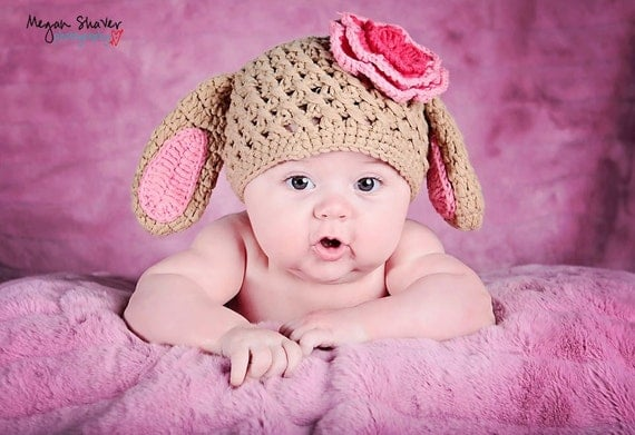 FREE SHIPPING REaDY To SHIp Unisex Easter Bunny Hat Beanie Toddler to Teen
