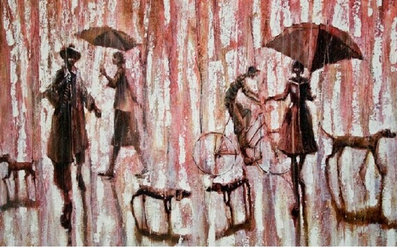 DOG PARK.   2010    Original Oil painting print on Canvas  20x30    90.00