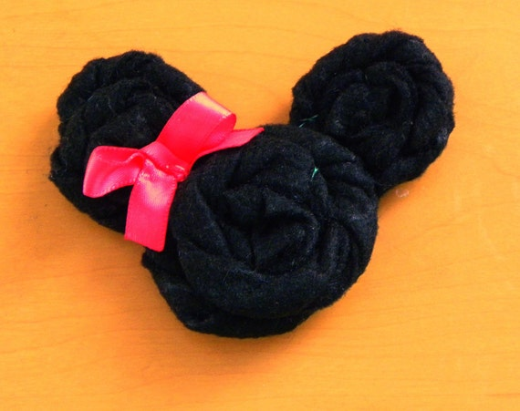 Mini Mouse Rosette Hair Clip