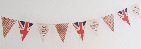 Vintage Jubilee Union Jack Bunting Garland