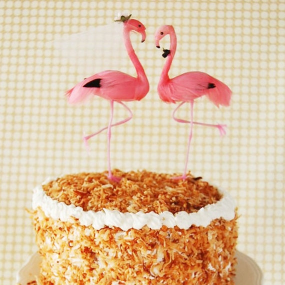 Flamingo Wedding Cake Topper As Seen in Bride to Be Magazine