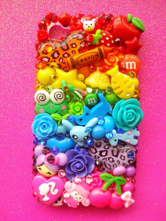 Rainbow Bright Decoden iPhone 4 Case
