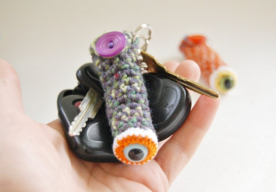 Crocheted Monster Cozy Pouch for Lip Balm or Crystals