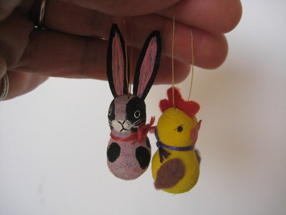 Vintage Refurbished Easter ornaments Japan