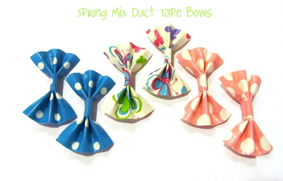 Spring Mix Duct Tape Hair Bows