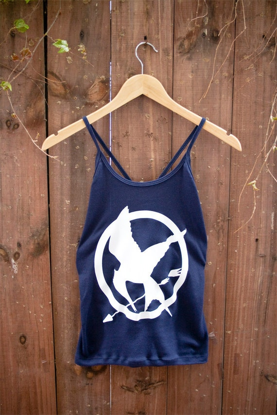 SAMPLE SALE - Hunger Games Mockingjay Cross Back Tank - Size Large Only - Ready to Ship
