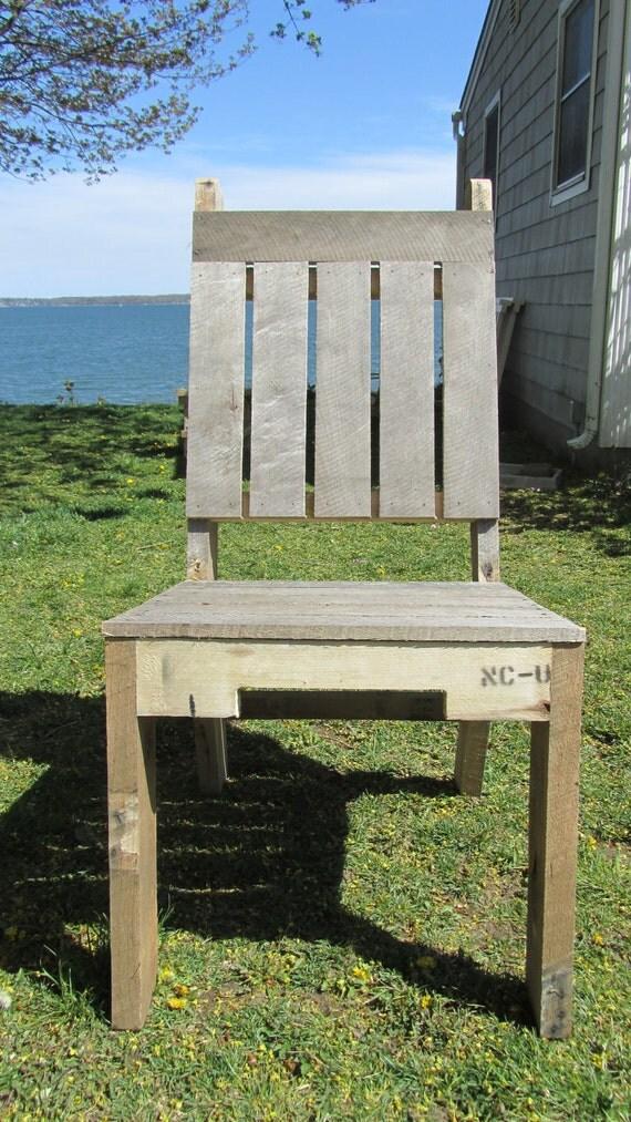 Madera reciclada Presidente Plataforma, hecha a mano en Maine