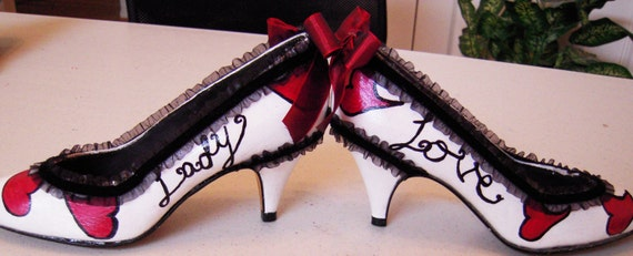 Victorian-esque, dripping-with-cute Lady Love Shoes