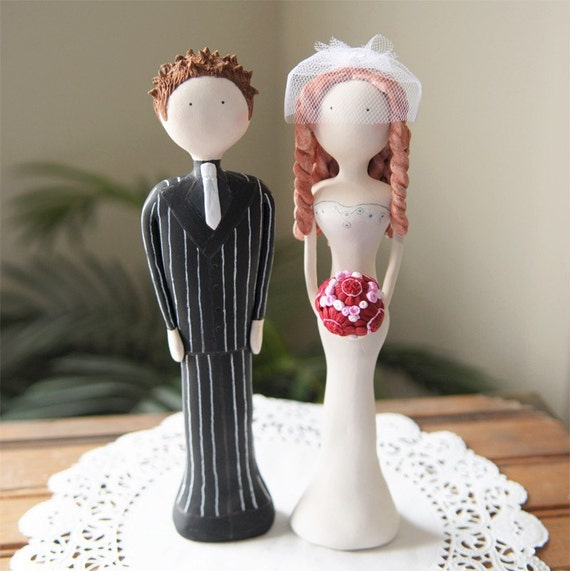 Custom Designed and Hand Sculpted Wedding Cake Toppers - Couple