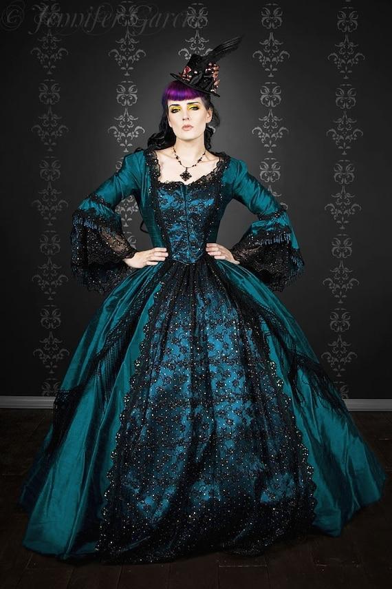 Gothic Marie Antoinette Peacock Fantasy Gown Costume Custom