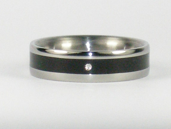Hawaii Titanium Rings Custom new age wedding commitment exotic Wood and