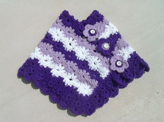 CHILDRENS HOODED PONCHO CROCHET PATTERN ? CROCHET FREE PATTERNS