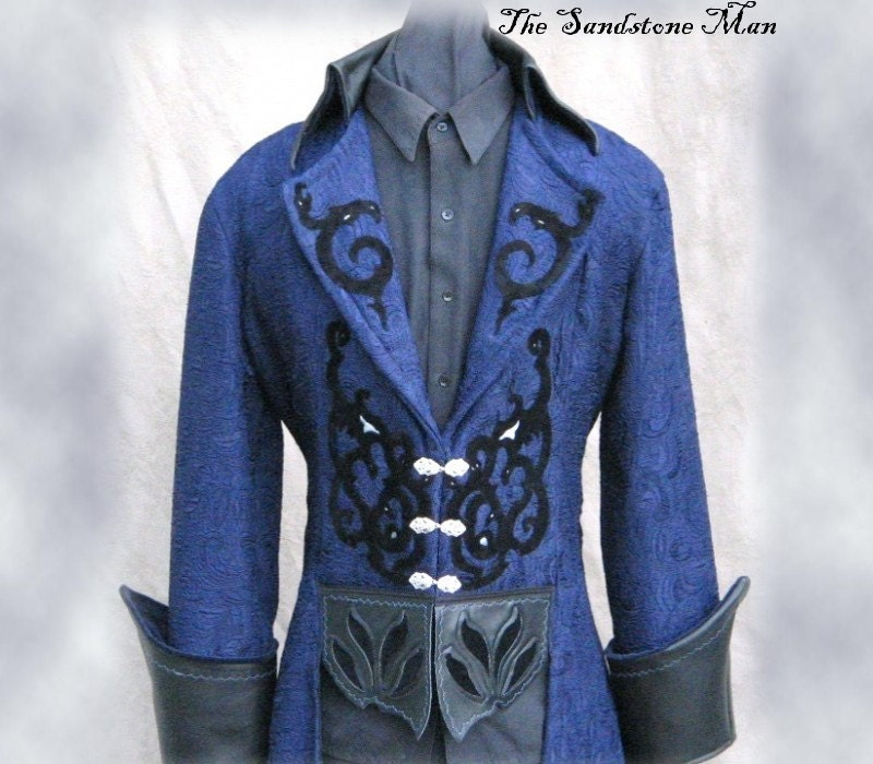 Steampunk Wedding Tuxedo Style frock coat Gothic Pirate