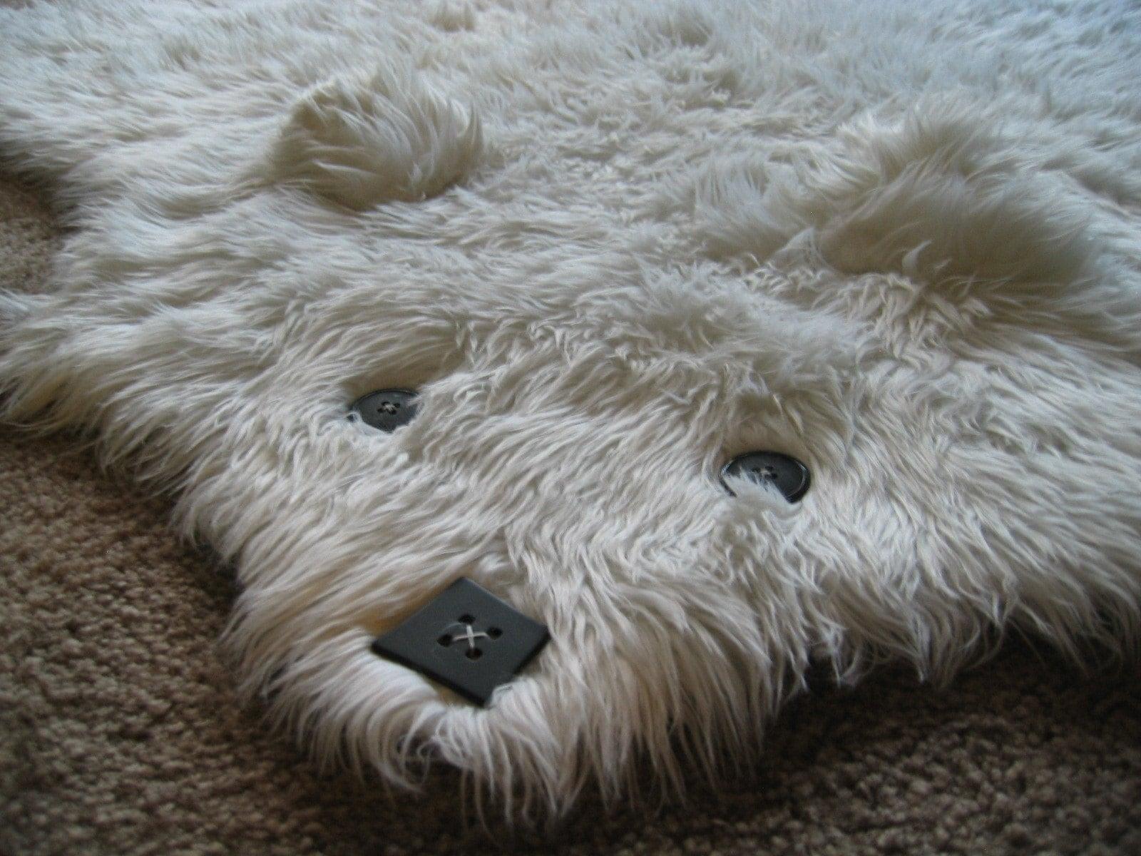 Rug sheepskin promotion bed mattress sale for Ikea bear rug