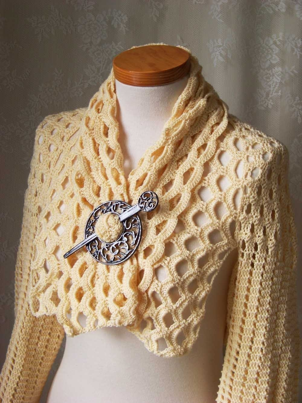 Crochet Shrug Pattern : 17 bolero shrug patterns knit or crochet with wool or cotton yarns