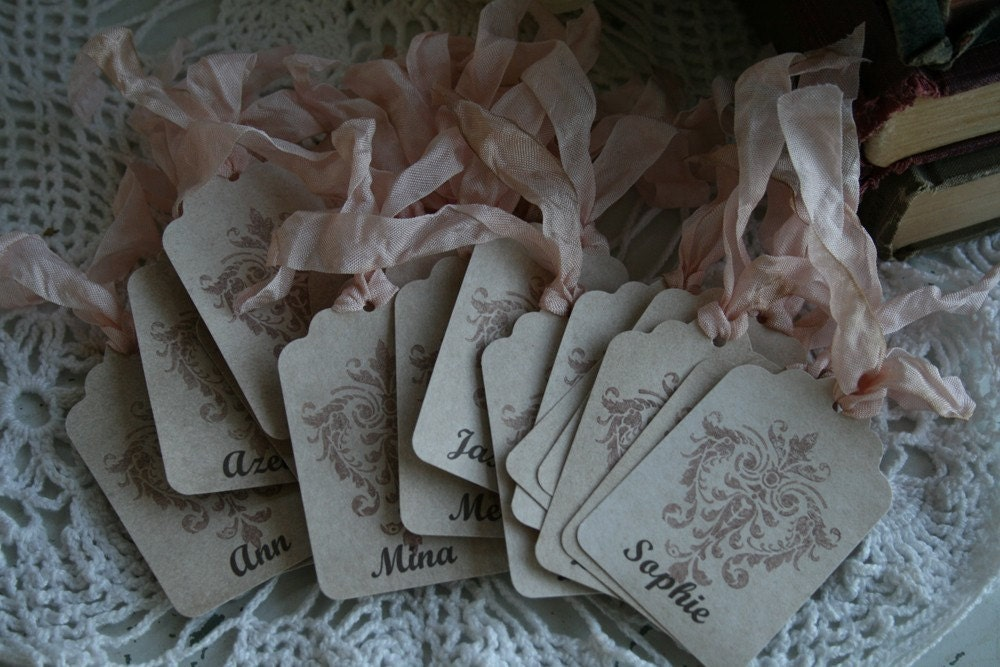 50 Custom Name Cards Place cards Table Numbers weddings events