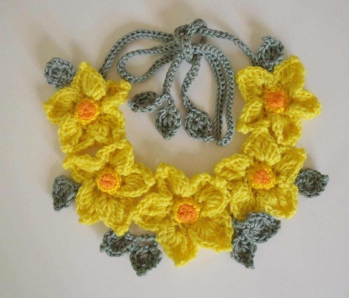 Crochet Jewelry Patterns For Beginners : CROCHET NECKLACE FREE PATTERN Crochet For Beginners