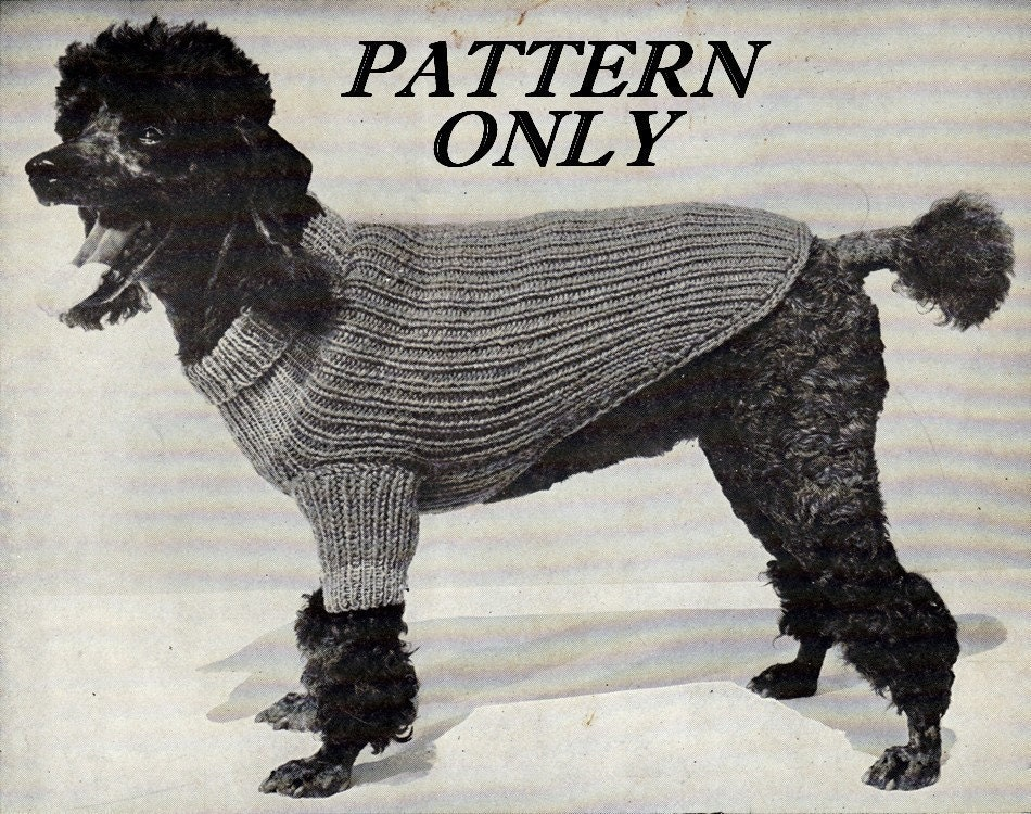 Knitted Patterns For Dog Sweaters : Dog Knit Sweater Patterns Patterns Gallery