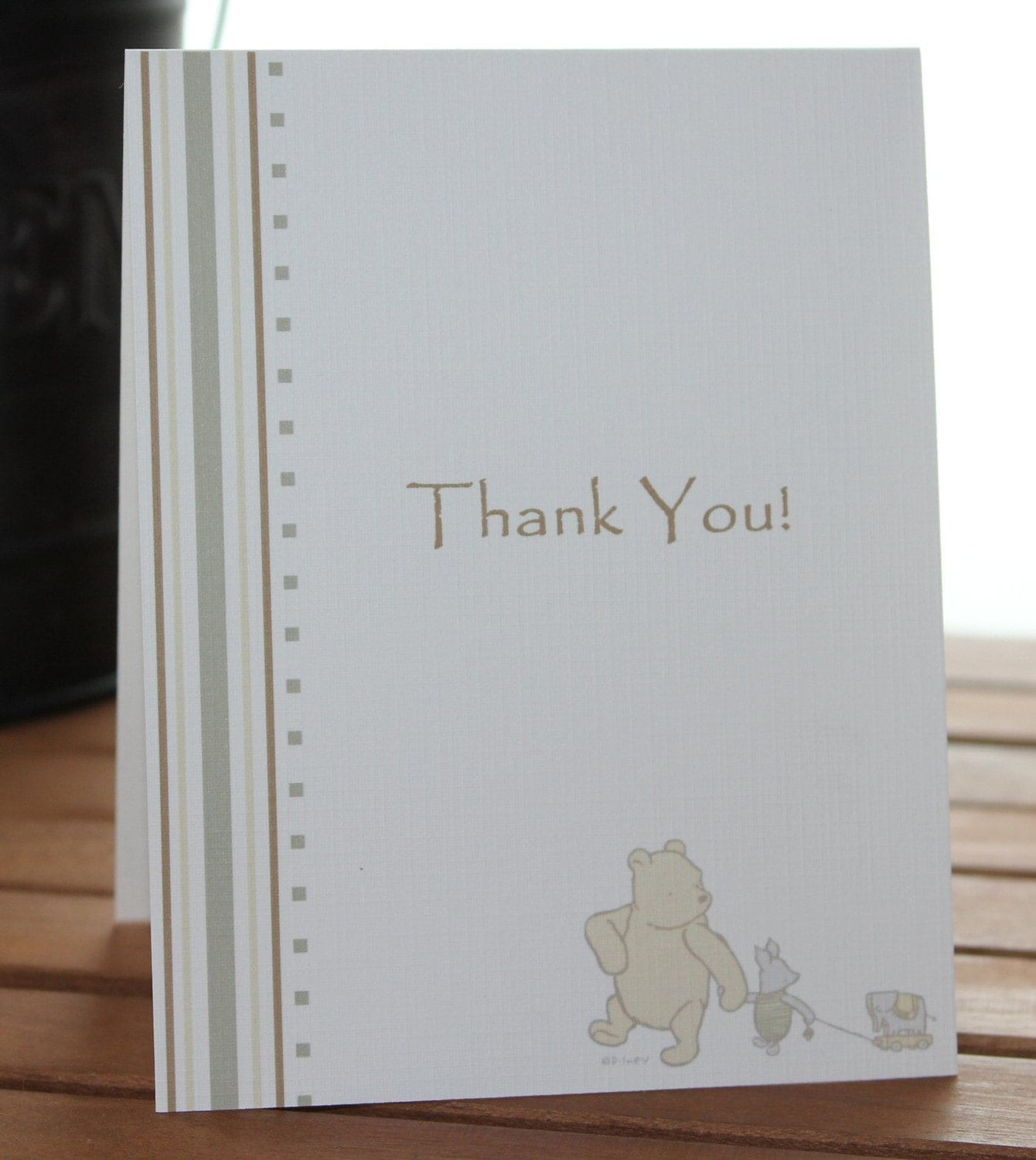 Winnie the pooh thank you cards baby shower