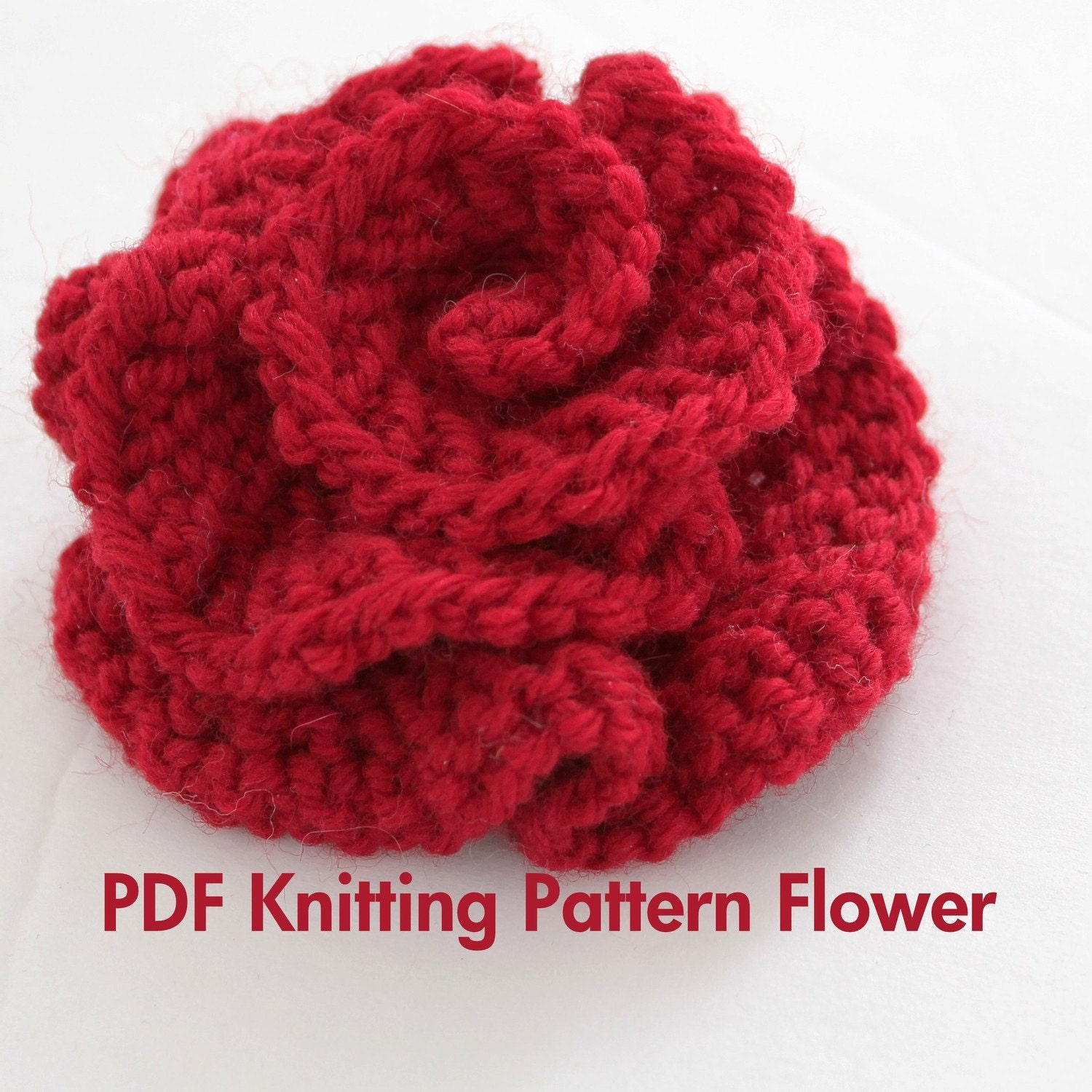 Knitting Pattern For A Headband With Flower : KNITTING FLOWER PATTERNS   Browse Patterns