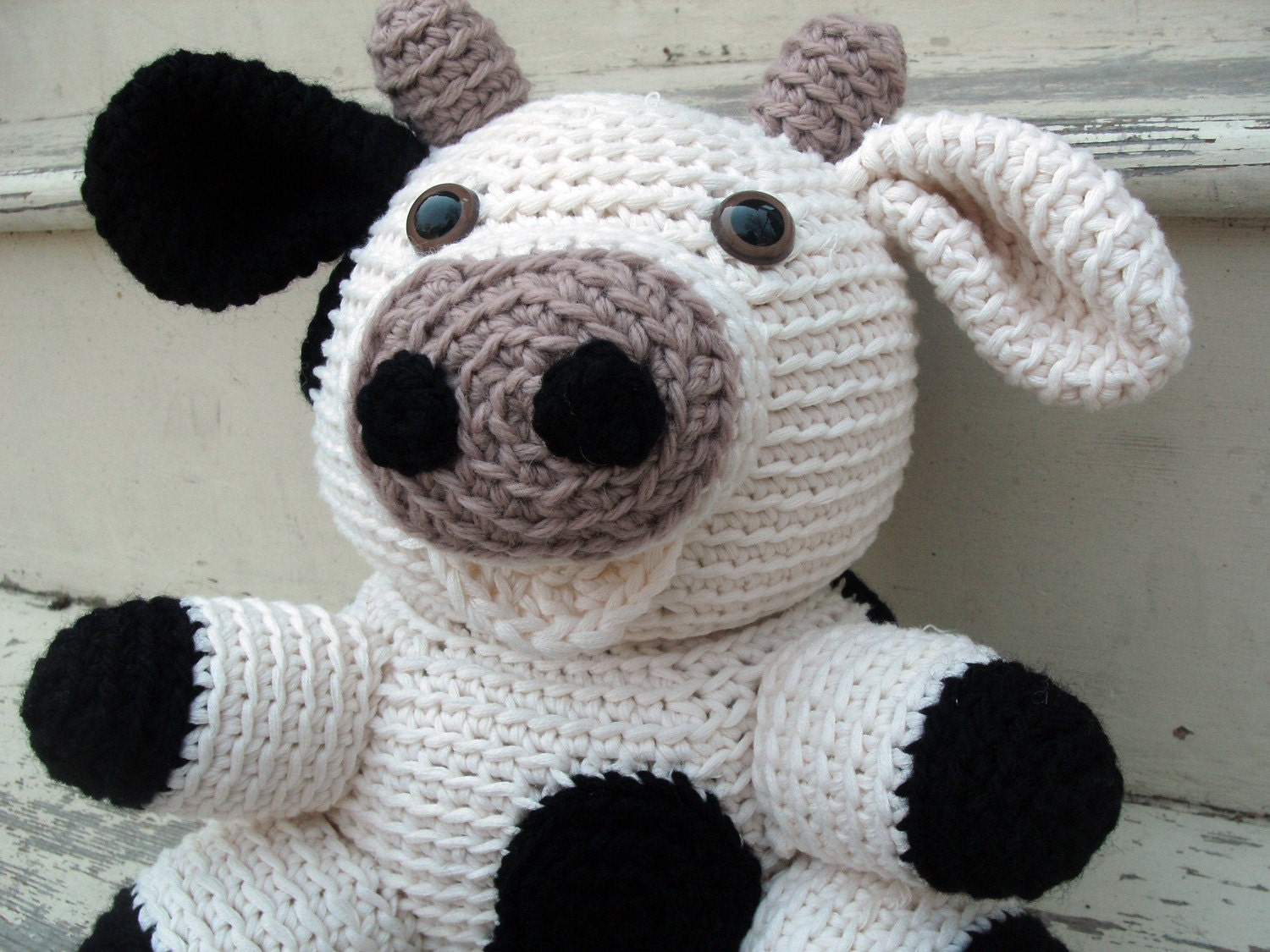 Cow Toaster Cover~Cute Crochet~Cute crochet patterns for sale