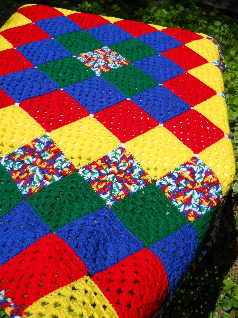 BROOMSTICK LACE AFGHAN SQUARE - Free Crochet Pattern Courtesy of