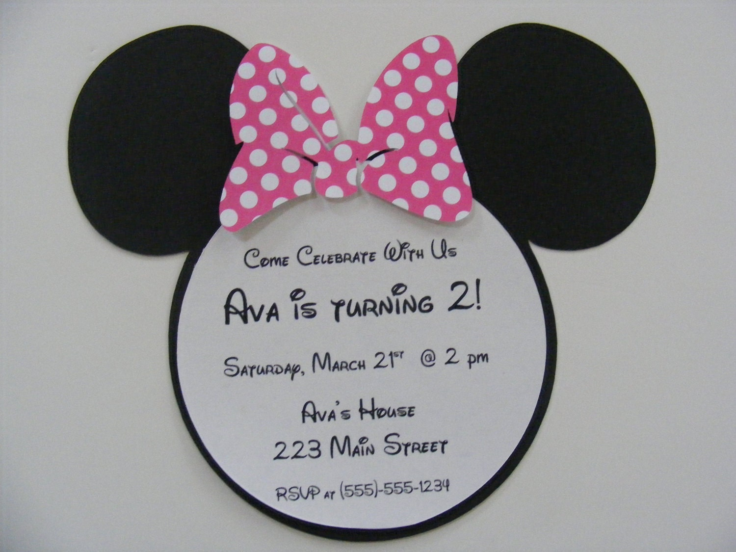 Invitaciónes para baby shower de Minnie Mouse - Imagui