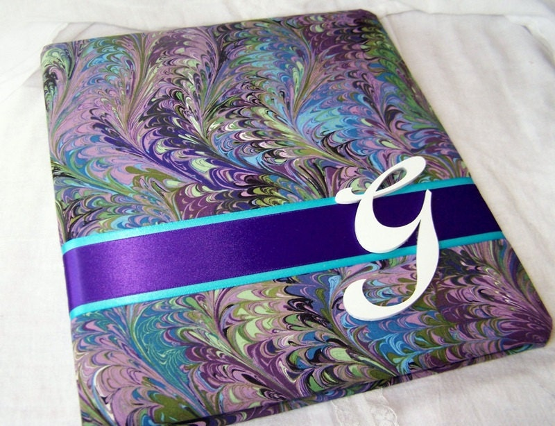 WEDDING GUEST BOOK Peacock Purple Blue Teal and Green From itsmyday