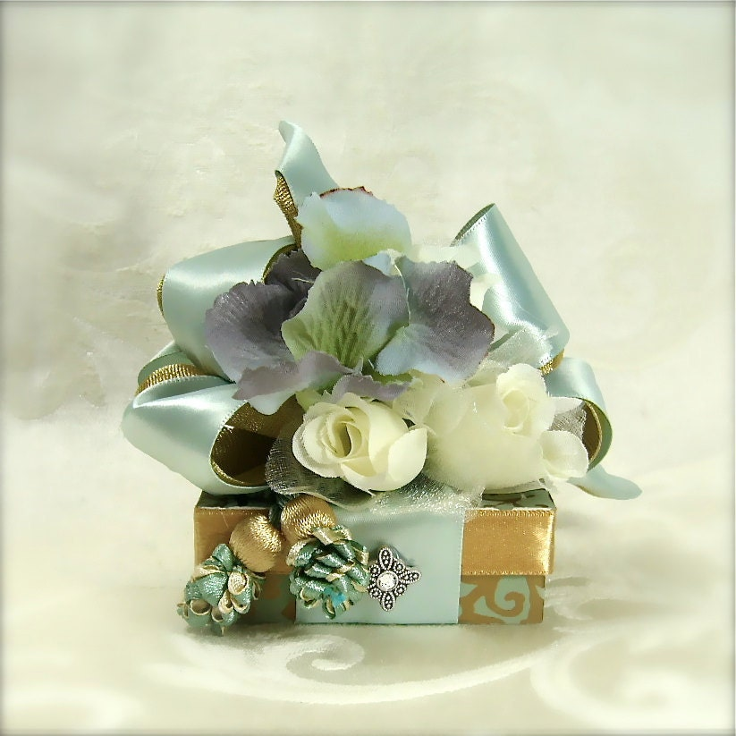 Gift Box Ideas For Wedding : Seafoam Green Wedding Favor Box Gift Ideas For Money Holder Christmas