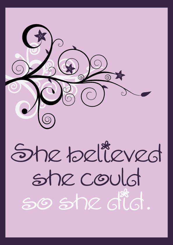 sale she believed she could so