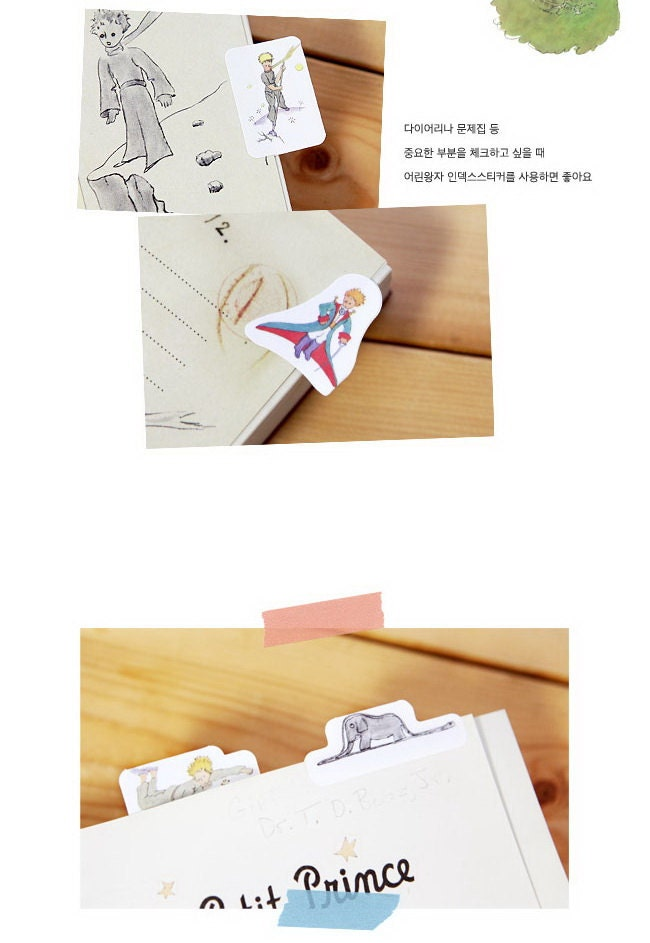 Le Petit Prince Index Label Sticker 4 Sheets