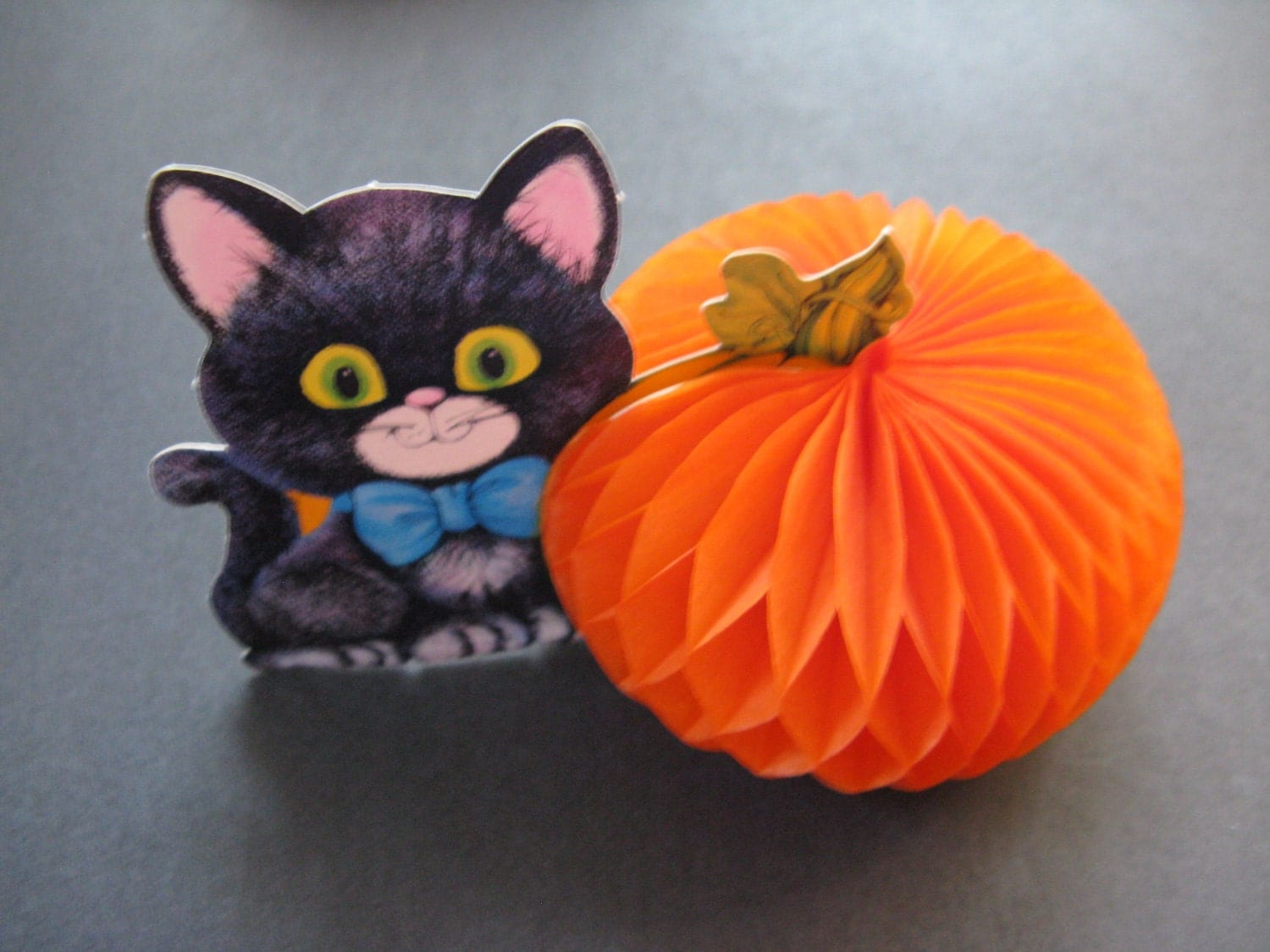 Running with a glue gun halloween black cat edition of Vintage halloween decorations uk