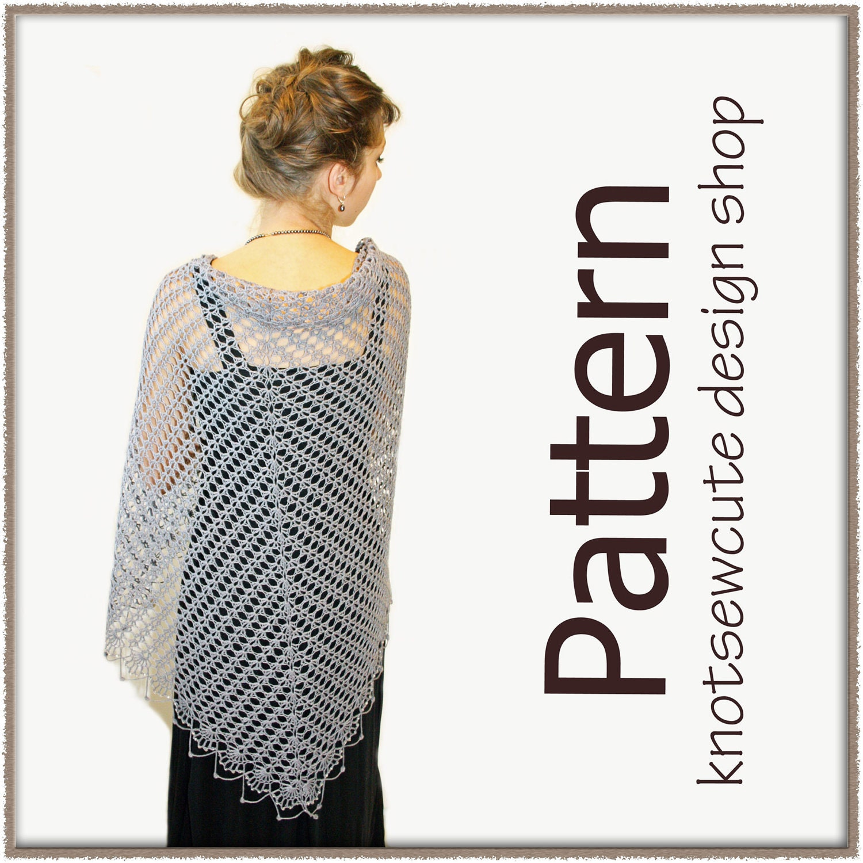 Eva s Shawl Crochet Pattern : CROCHET LACE SHAWL PATTERN - Crochet Club