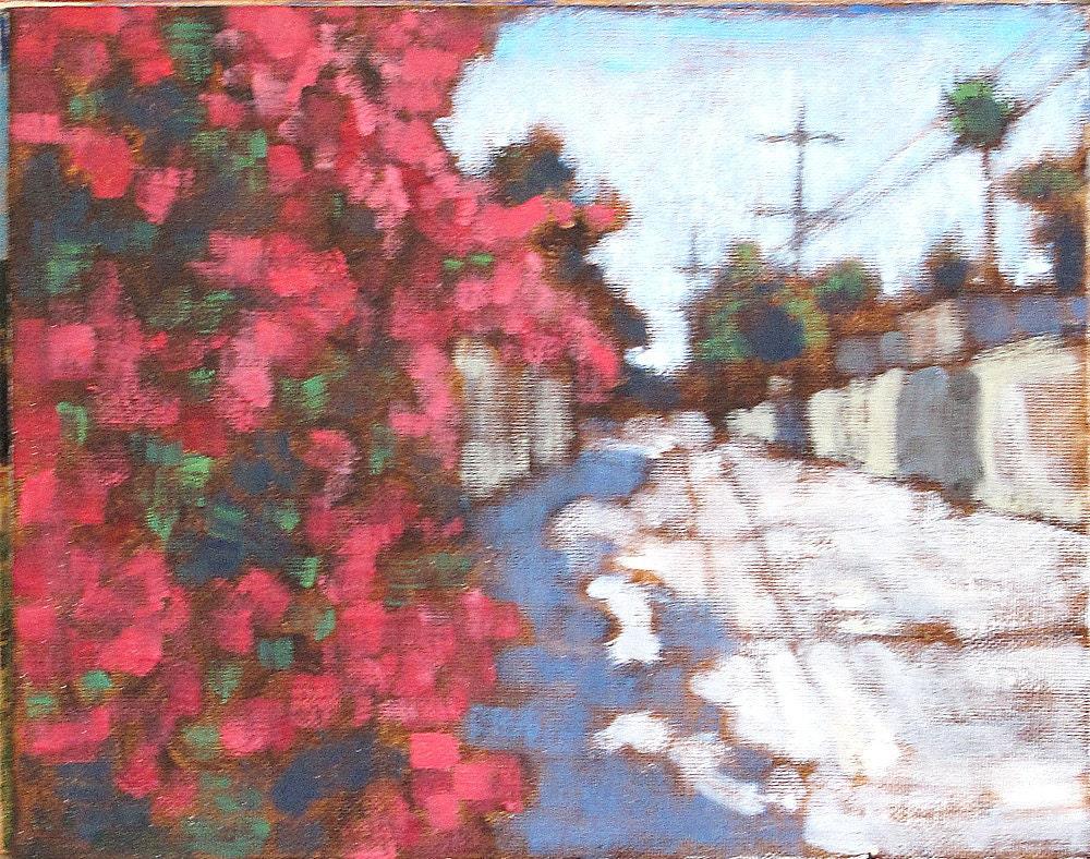 Bougainvillea in the Alley