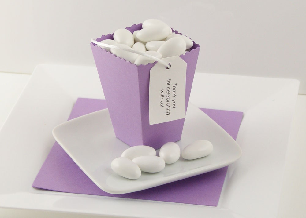 Plum Wedding Favor Boxes Lavender Favor Boxes From WeddingAmbience