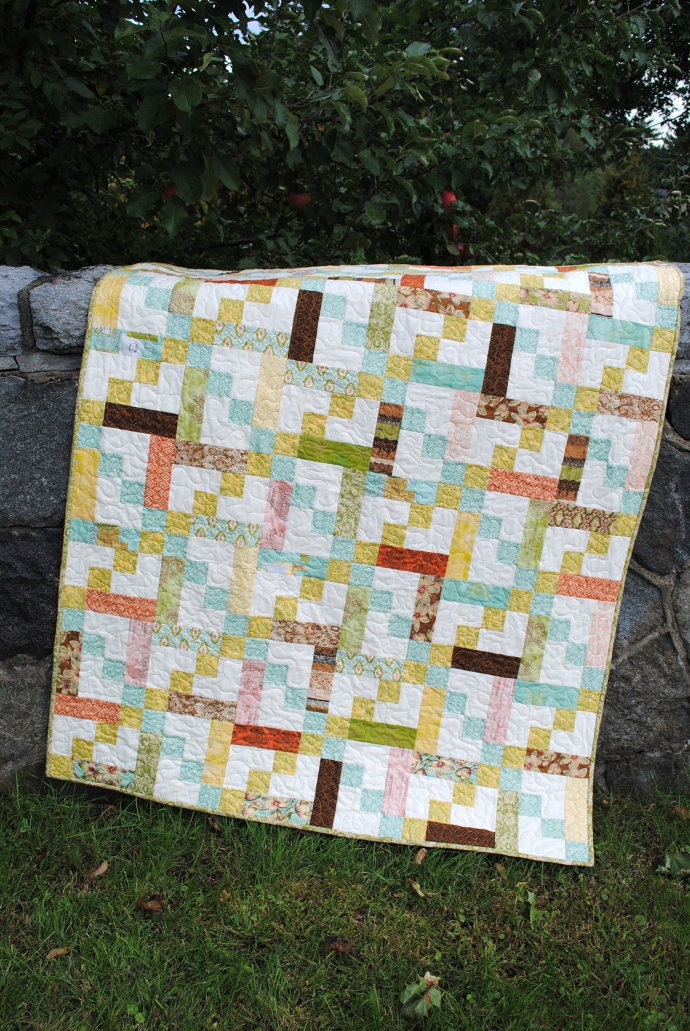Layer Cake Quilt Patterns Easy : QUILT PATTERN Jelly Roll, Layer Cake or Fat Quarter, Quick ...