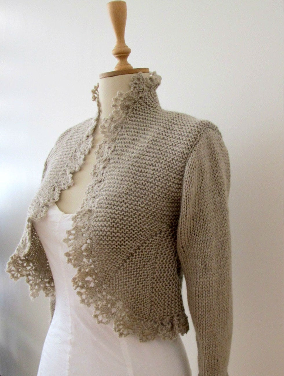 Knit Crochet Sweater - Long Sweater Jacket