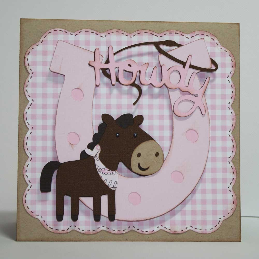 EtsyGreetings Handmade Cards: Cowgirl Birthday Invitations