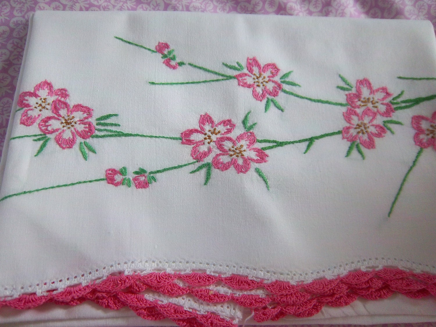 King Size Pillowcase Embroidery Kits Free Embroidery