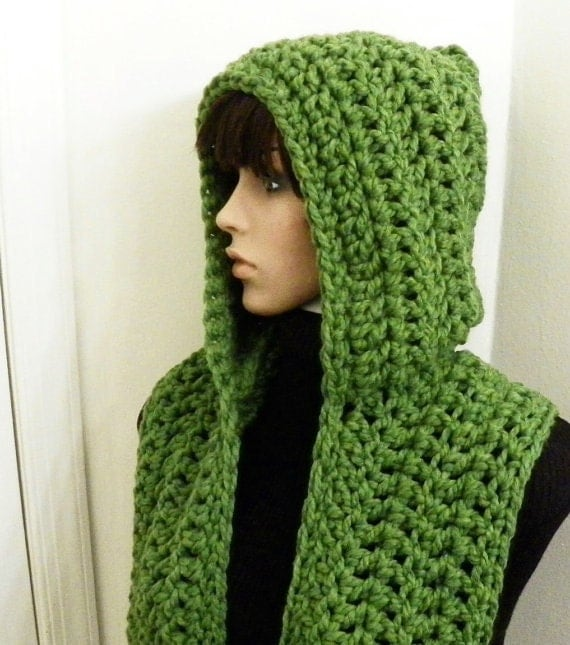 Crochet Patterns Free Hooded Scarf : Gallery For > Crochet Hooded Scarf