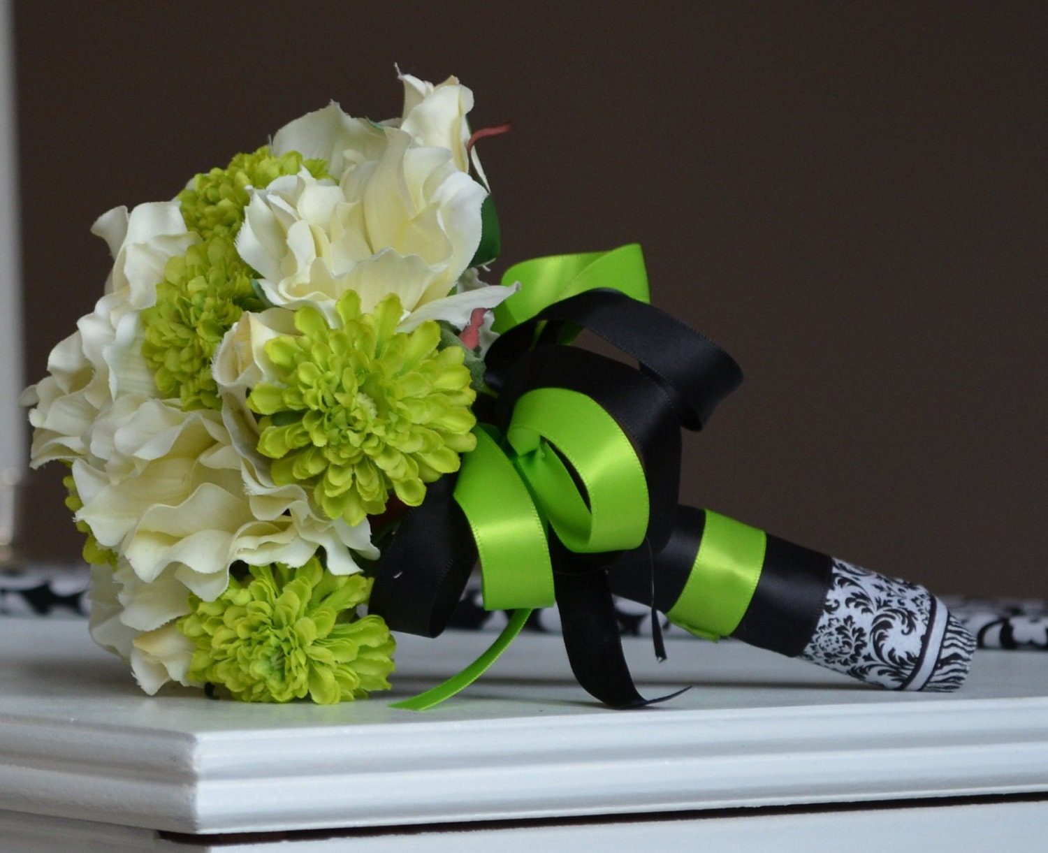 Lime Green And Black And White
