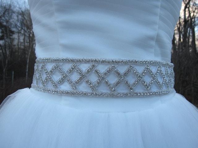 Beaded bridal belts crystal bridal sash bridal belt sash ribbon